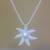 Cultured pearl pendant necklace, 'Galang Starfish in White' - Cultured Pearl Starfish Necklace in White from Bali (image 2b) thumbail