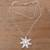 Cultured pearl pendant necklace, 'Galang Starfish in White' - Cultured Pearl Starfish Necklace in White from Bali (image 2c) thumbail
