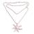 Cultured pearl pendant necklace, 'Galang Starfish in White' - Cultured Pearl Starfish Necklace in White from Bali (image 2d) thumbail