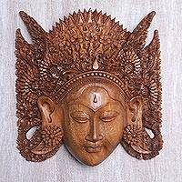 Wood mask, 'Beautiful Sita' - Wood mask