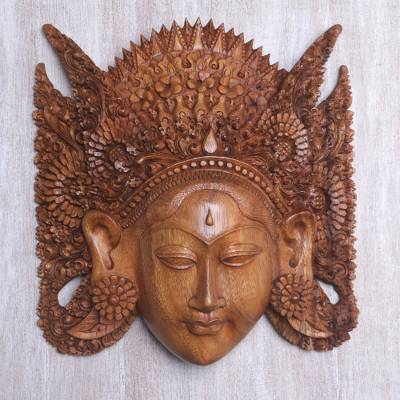 Wood mask, Beautiful Sita