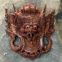 Wood mask, 'Garuda' - Wood mask