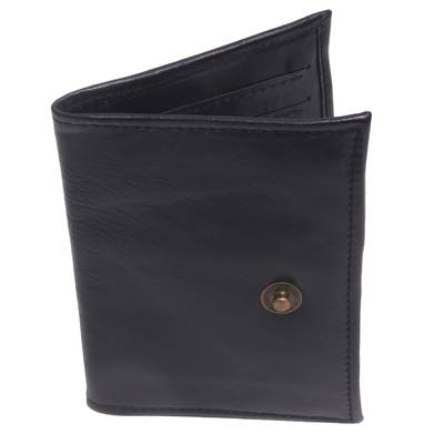 Fair Trade Handcrafted Black Leather Passport Holder
