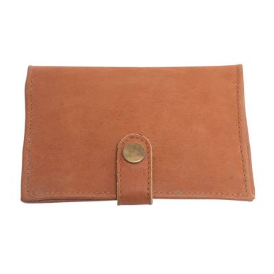 Handcrafted Brown Leather Passport Wallet from Bali