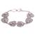 Sterling silver link bracelet, 'Lily Pad Frogs' - Sterling Silver Link Bracelet with Frogs (image 2a) thumbail