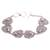 Sterling silver link bracelet, 'Lily Pad Frogs' - Sterling Silver Link Bracelet with Frogs (image 2d) thumbail