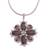 Smoky quartz pendant necklace, 'Buddha's Curl Snowflake' - Smoky Quartz Buddha Curl Necklace from Bali (image 2a) thumbail