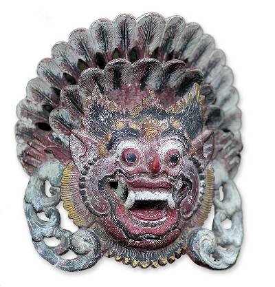 Handmade Indonesian Cultural Wood Mask