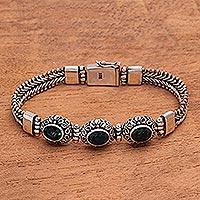 Quartz pendant bracelet,