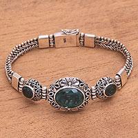 Quartz link pendant bracelet,