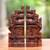 Wood bookends, 'Gapura Gaze' (12 inch) - Hand-Carved Cultural Suar Wood Bookends from Bali (12 in.) thumbail