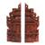 Wood bookends, 'Gapura Gaze' (12 inch) - Hand-Carved Cultural Suar Wood Bookends from Bali (12 in.) (image 2a) thumbail