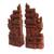 Wood bookends, 'Gapura Gaze' (12 inch) - Hand-Carved Cultural Suar Wood Bookends from Bali (12 in.) (image 2b) thumbail