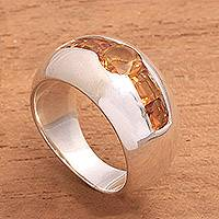 Citrine cocktail ring,
