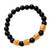 Men's gold accented onyx beaded stretch bracelet, 'Batur Heritage' - Men's Gold Accented Onyx Beaded Stretch Bracelet from Bali (image 2c) thumbail