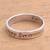 Sterling silver band ring, 'Just Keep Swimming' - Inspirational Sterling Silver Band Ring from Bali thumbail