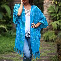 Batik rayon shawl jacket,