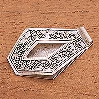 Sterling silver money clip Serene Swirls (Indonesia)