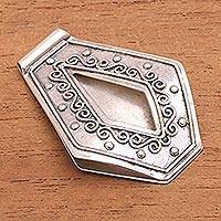 Sterling silver money clip Serene Surf (Indonesia)