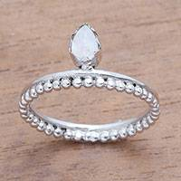Featured review for Moonstone band ring, Lovely Serenity