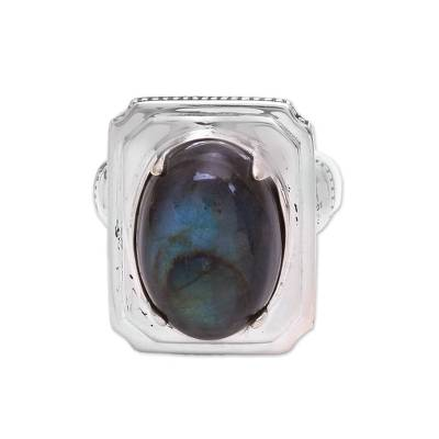 Labradorite Cocktail Ring from Bali