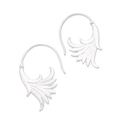 Sterling Silver Half-Hoop Earrings from Bali
