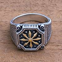 Featured review for Mens sterling silver ring, Bali Inspiration