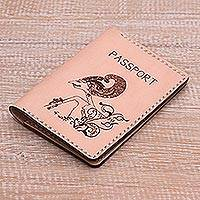 Leather passport wallet,