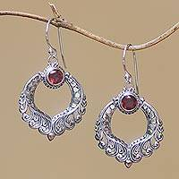 Garnet dangle earrings Garden Gate (Indonesia)