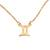 Gold plated sterling silver pendant necklace, 'Golden Gemini' - 18k Gold Plated Sterling Silver Gemini Pendant Necklace (image 2a) thumbail