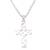Sterling silver pendant necklace, 'Lovely Cross' - Love-Themed Sterling Silver Cross Necklace from Bali (image 2c) thumbail