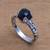 Onyx single stone ring, 'Temple Heirloom' - Black Onyx Single Stone Ring Crafted in Bali (image 2c) thumbail
