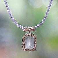 Gold accent prehnite pendant necklace,