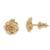 Gold plated sterling silver stud earrings, 'Blooming Rose' (.4 inch) - 18k Gold Plated Sterling Silver Rose Stud Earrings (.4 inch) (image 2c) thumbail