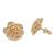 Gold plated sterling silver stud earrings, 'Blooming Rose' (.5 inch) - 18k Gold Plated Sterling Silver Rose Stud Earrings (.5 inch) (image 2c) thumbail