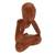 Wood sculpture, 'Wondering' - Abstract Suar Wood Sculpture of a Person from Indonesia (image 2c) thumbail