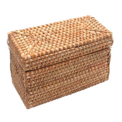 Handwoven Bamboo and Natural Fiber Basket from Bali