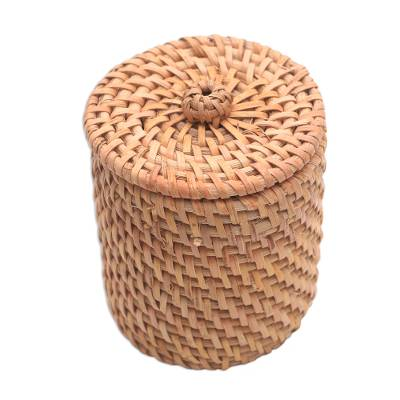 Handwoven Bamboo and Natural Fiber Mini Basket from Bali