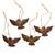 Coconut shell ornaments, 'Sacred Doves' (set of 4) - Coconut Shell Dove Ornaments from Bali (Set of 4) (image 2a) thumbail