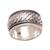 Sterling silver spinner ring, 'Spinning Weave' - Handmade Sterling Silver Spinner Ring from Bali (image 2a) thumbail