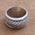 Sterling silver spinner ring, 'Spinning Weave' - Handmade Sterling Silver Spinner Ring from Bali (image 2b) thumbail