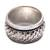 Sterling silver spinner ring, 'Spinning Weave' - Handmade Sterling Silver Spinner Ring from Bali (image 2d) thumbail