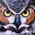 'Clever Owl' - Signed Painting of an Owl from Bali (image 2b) thumbail