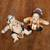 Ceramic figurines, 'Whimsical Loro Blonyo' (pair) - Whimsical Ceramic Loro Blonyo Figurines from Java (Pair) thumbail