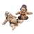 Ceramic figurines, 'Whimsical Loro Blonyo' (pair) - Whimsical Ceramic Loro Blonyo Figurines from Java (Pair) (image 2a) thumbail