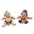 Ceramic figurines, 'Whimsical Loro Blonyo' (pair) - Whimsical Ceramic Loro Blonyo Figurines from Java (Pair) (image 2b) thumbail