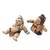 Ceramic figurines, 'Whimsical Loro Blonyo' (pair) - Whimsical Ceramic Loro Blonyo Figurines from Java (Pair) (image 2c) thumbail
