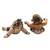 Ceramic figurines, 'Whimsical Loro Blonyo' (pair) - Whimsical Ceramic Loro Blonyo Figurines from Java (Pair) (image 2d) thumbail