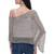 Crocheted poncho, 'Grey Sanur Shade' - Lightweight Hand Crocheted Poncho in Grey from Bali (image 2d) thumbail