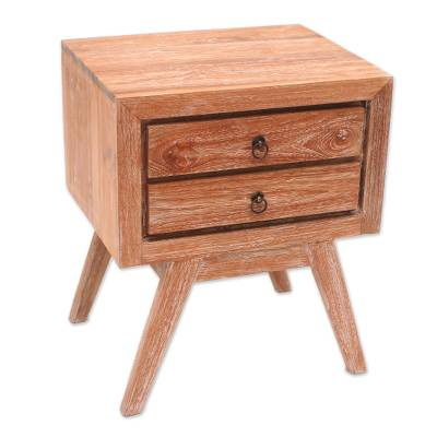 Teak wood chest of drawers, 'Simple Modernity' - Modern Teak Wood Chest of Drawers from Bali